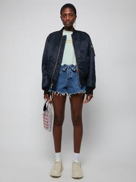 Deep Blue Bite Flip Denim Shorts