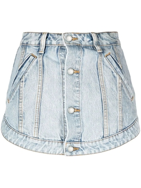 CUTAWAY SKORT, PEBBLE BLEACH