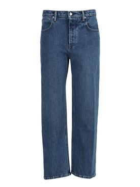 Vintage dark indigo Straight leg denim jeans