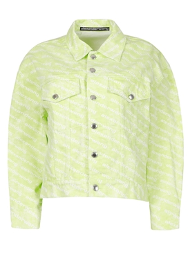 Falling Back Logo Jacket Sunbleach Sharp Green