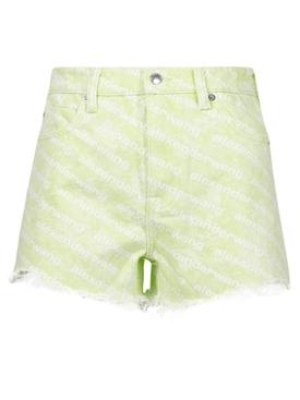 Bite Denim Shorts Sunbleach Sharp Green