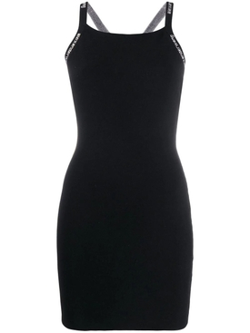 Bodycon Tank Dress with Logo Jacquard Trims