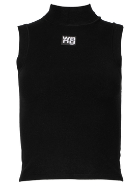 FOUNDATION BODYCON MUSCLE TANK, BLACK