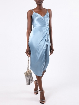 SILK CAMI MIDI DRESS