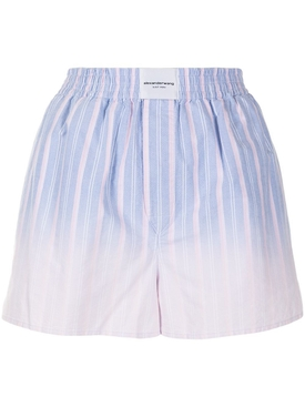 Striped ombre boxer shorts, oxford blue
