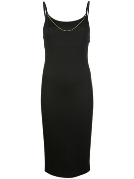 Chain neck midi dress