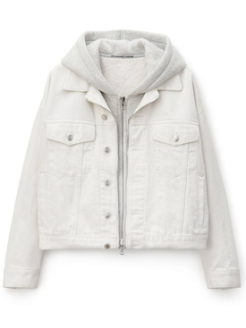 White denim hybrid jacket
