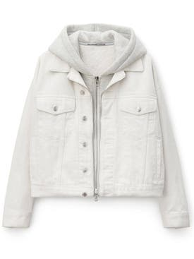 Alexanderwang - White Denim Hybrid Jacket - Women