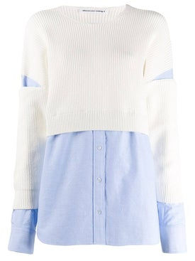 Alexanderwang.t - Sweater-overlay Shirt - Women