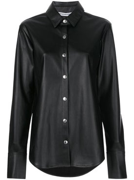 Alexanderwang.t - Black Faux-leather Shirt - Women