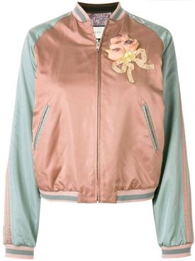sequin embellished bomber jacket MULTICOLOR