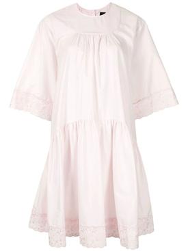 Light Pink Gathered Dress
