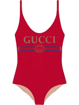 Gucci - Red Front Logo Swimsuit - Women