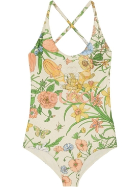 floral print one piece swimsuit