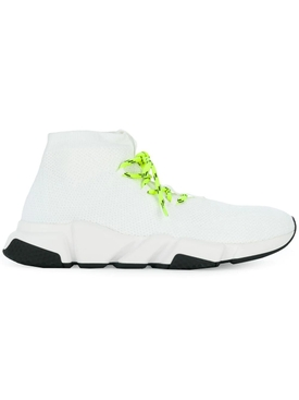 White Lace-up Speed Sneakers