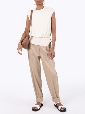 Ivory Taani Paneled Top