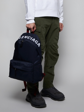 Wheel backpack NAVY BLUE/RED