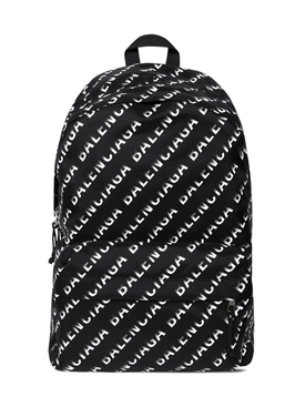 Wheel Logo Print Backpack