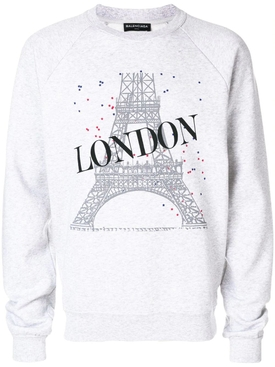 London Crewneck Sweatshirt GREY