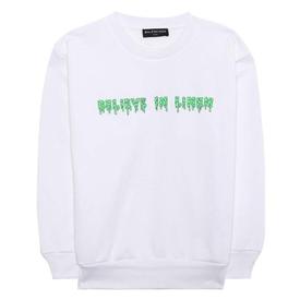 Kids Believe in Linen Sweatshirt