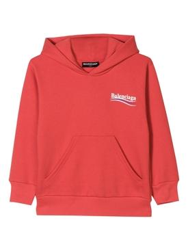 Kids Logo Hoodie Jumper RED