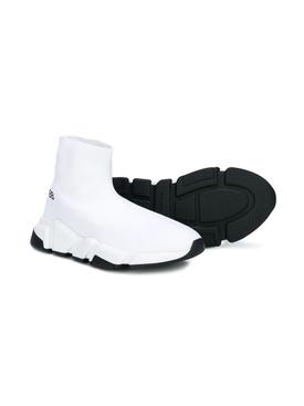 Kids Knit Speed Sneakers WHITE
