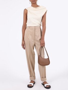 Marta Beige Wool Pants
