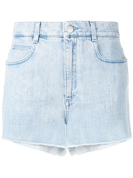 HIGH RISE DENIM SHORTS BLUE