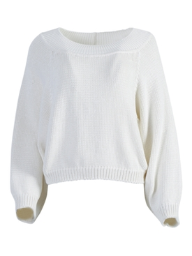 Yasima Textured Knit Top White
