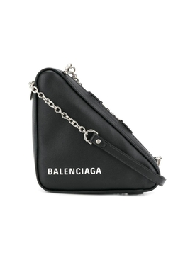 Triangle Logo Shoulder Bag BLACK