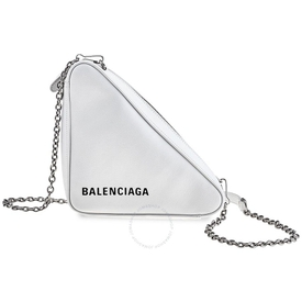 Triangle Logo Shoulder Bag WHITE