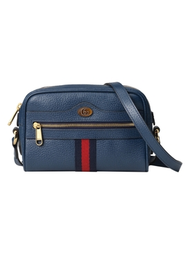 Blue Ophidia Mini Cross-Body Bag