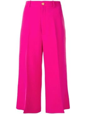 cropped straight trousers