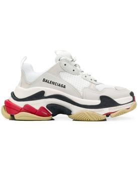 white grey triple s sneakers
