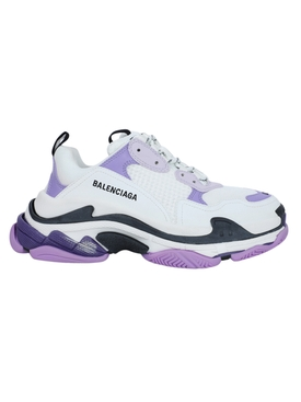 White and lilac Triple S sneaker