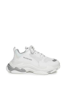 Triple S Sneaker White and Metal Grey