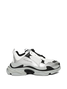 Triple S Sneaker Silver and White