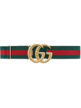 Striped GG logo belt