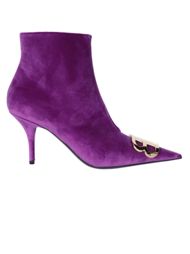 Purple BB Logo Ankle Boots