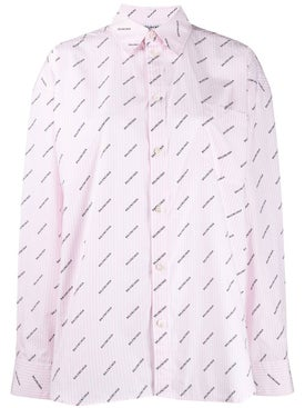 Balenciaga - Pink All Over Logo Shirt - Women
