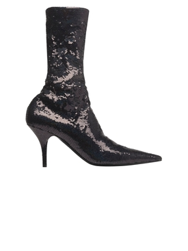 sequin stiletto ankle boots