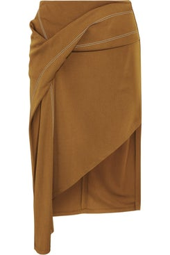 Atlein - Asymmetric Draped Skirt - Women