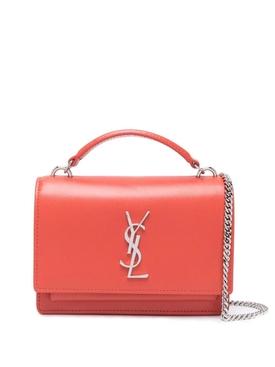 Sunset Leather Bag Red Orange