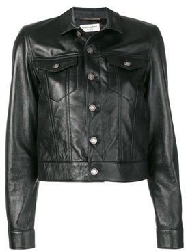 Saint Laurent - Black Leather Jacket - Men