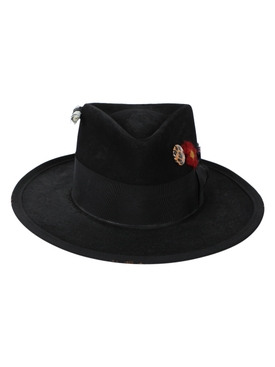 Los crudos black fedora hat