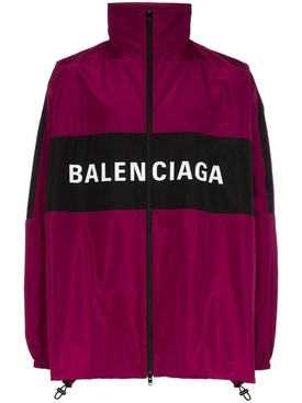 Burgundy logo track jacket