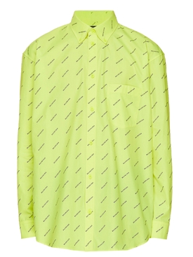 Fluorescent yellow logo print shirt