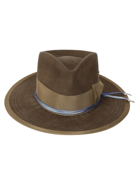 Oobelitta whiskey brown fedora hat
