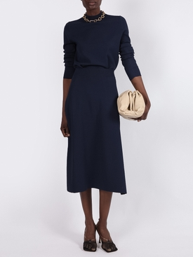 Navy Araceli Mid-length skirt