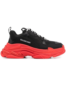 Black and red Triple S sneaker